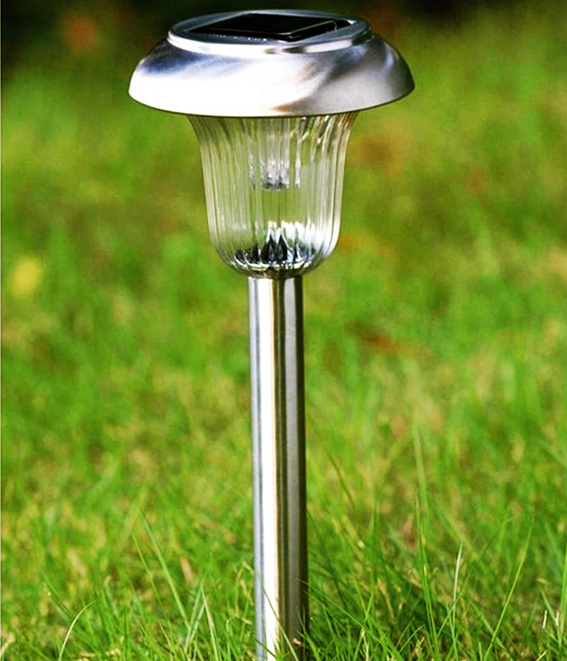 Sogrand Solar Garden Lights Outdoor Stakes Decorations Pathway Decorative Stake Light Dual Color LED Landscape Home Decor Waterproof Bright Yard Lamp For Outside Walkway Driveway Patio 8Pack