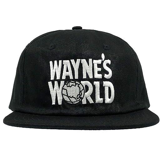 Wayne s World Hat Cap Waynes World Dad Hat Wayne Movie Baseball Cap (Black  (Flat d3fd738eec7