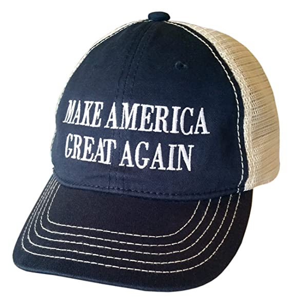1b994855e1ebe Make America Great Again CONTRASTING STITCH MESH BACK ~ MAGA ~ Trump Hat  (ContrastingStitch Navy