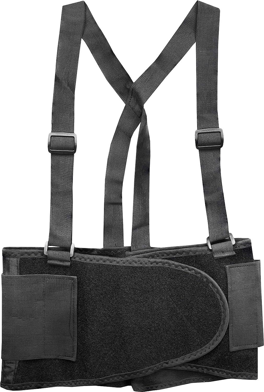 Ironwear 1900 Back Support Lumbar Belt with Adjustable Straps (Black, Medium): Industrial & Scientific