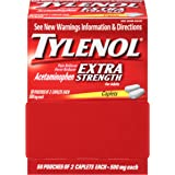 Tylenol Extra Strength Caplets, 500 Mg, 50 Count, Pack Of 2