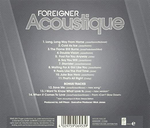 Foreigner Acoustique Amazon Music