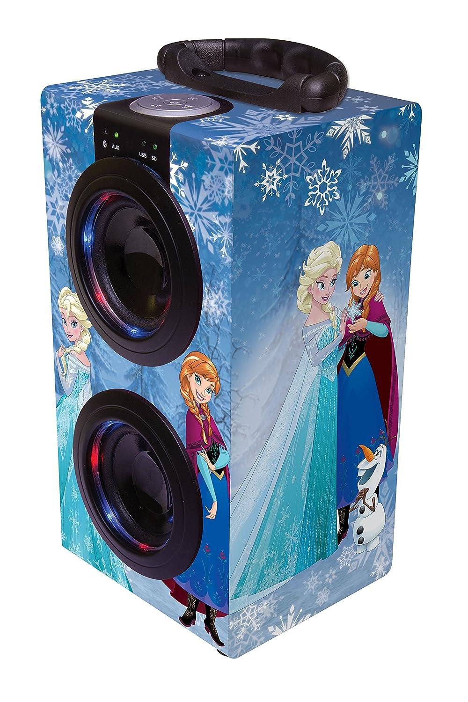 Disney Frozen - Torre Sonido Portátil con Altavoces Luminosos, Bluetooth, Puertos USB/SD / MP3, batería Recargable, Color Azul (BT600FZ): Amazon.es: ...