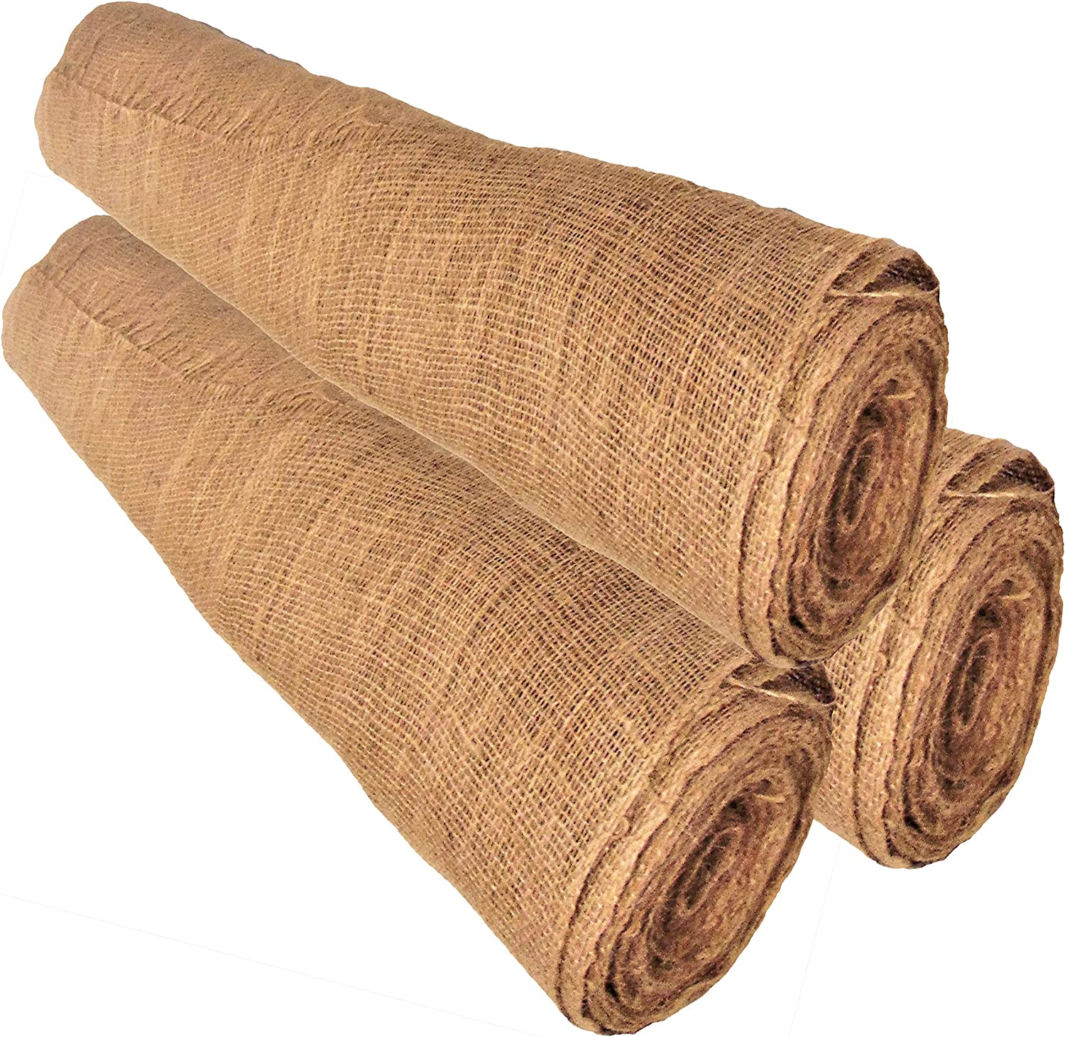 Garden Weed Barrier Heavy 7oz Landscaping 36 inches Wide 36 /× 16-Yards Burlap Fabric Eco-Friendly and Disposable Jute Planter Liner 48 feet Burlap-roll 48 ft