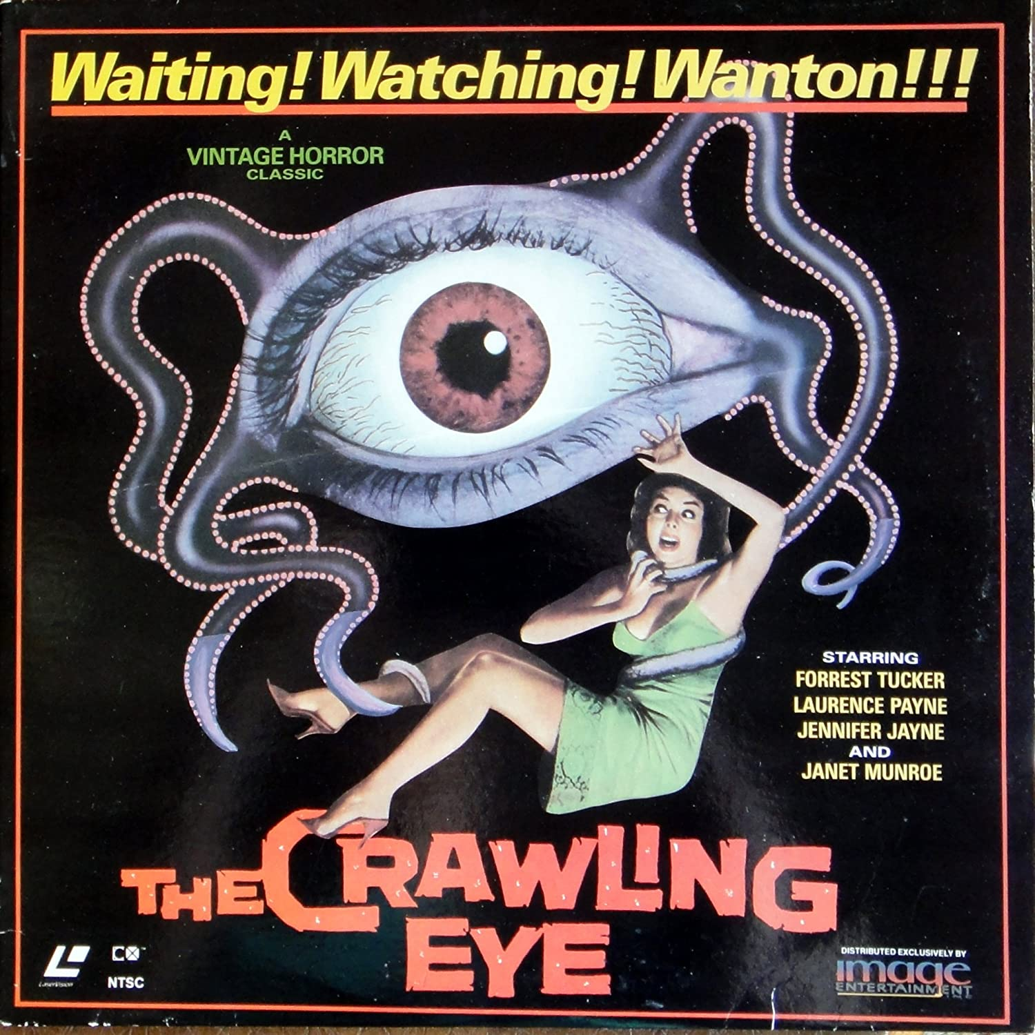 Amazon.com: The Crawling Eye laserdisc: Forrest Tucker, Laurence Payne,  Robert S. Baker: Movies & TV