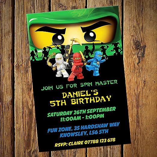 Lego Ninjago Grün Einladungen U0026 Umschläge, 24 Stück: Amazon.de: Küche U0026  Haushalt