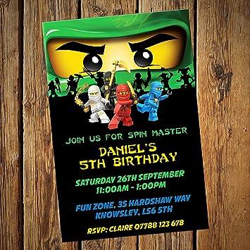 Lego Ninjago Grün Einladungen U0026amp; Umschläge, 24 Stück