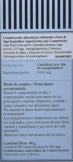 PRONUTRI - PRONUTRI Spirulina 80 comprimidos: Amazon.es: Salud y cuidado personal