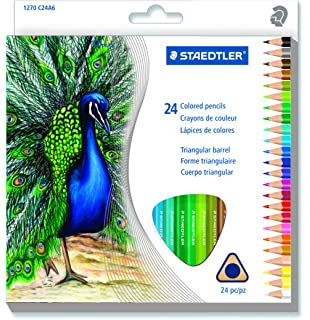 STAEDTLER Triangular Coloured Pencil 24 Pack 1270 C24A6