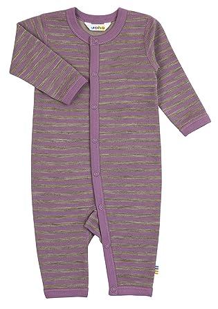 Joha - Pelele para dormir - Rayas - Manga Larga - para bebé niña morado 74