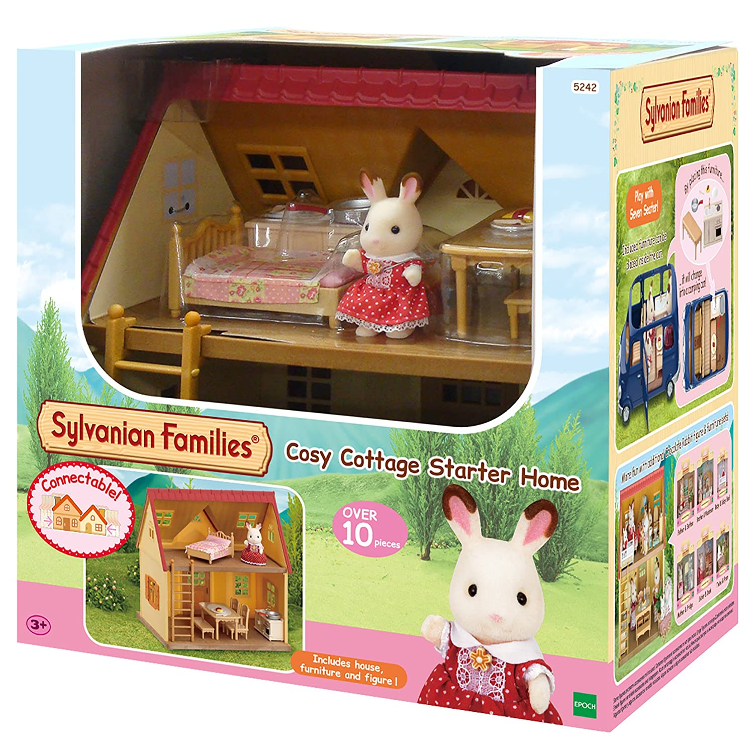 Sylvanian families cosy cottage starter home setmulticolor sylvanian families amazon co uk toys games