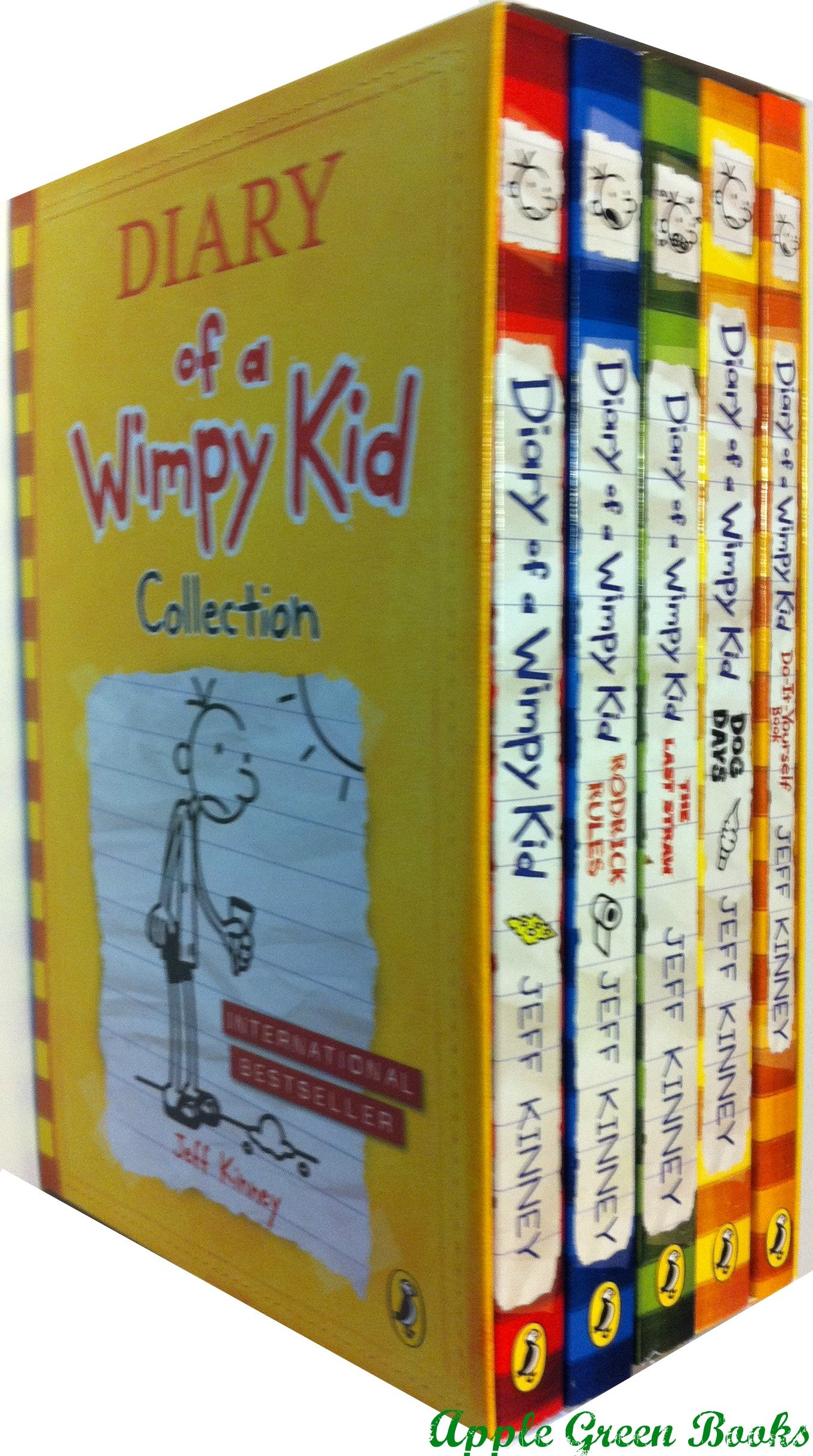 Read Online Diary of a Wimpy Kid Complete 5-Book Set: Diary of a Wimpy Kid, Rodrick Rules, The Last Straw, Dog D pdf epub
