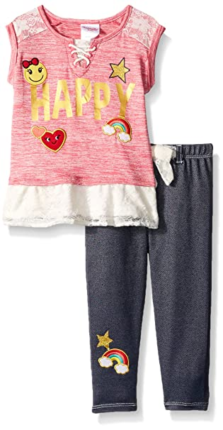 047ed550b Amazon.com  Nannette Girls  2 Piece Graphic Top and Legging Set ...