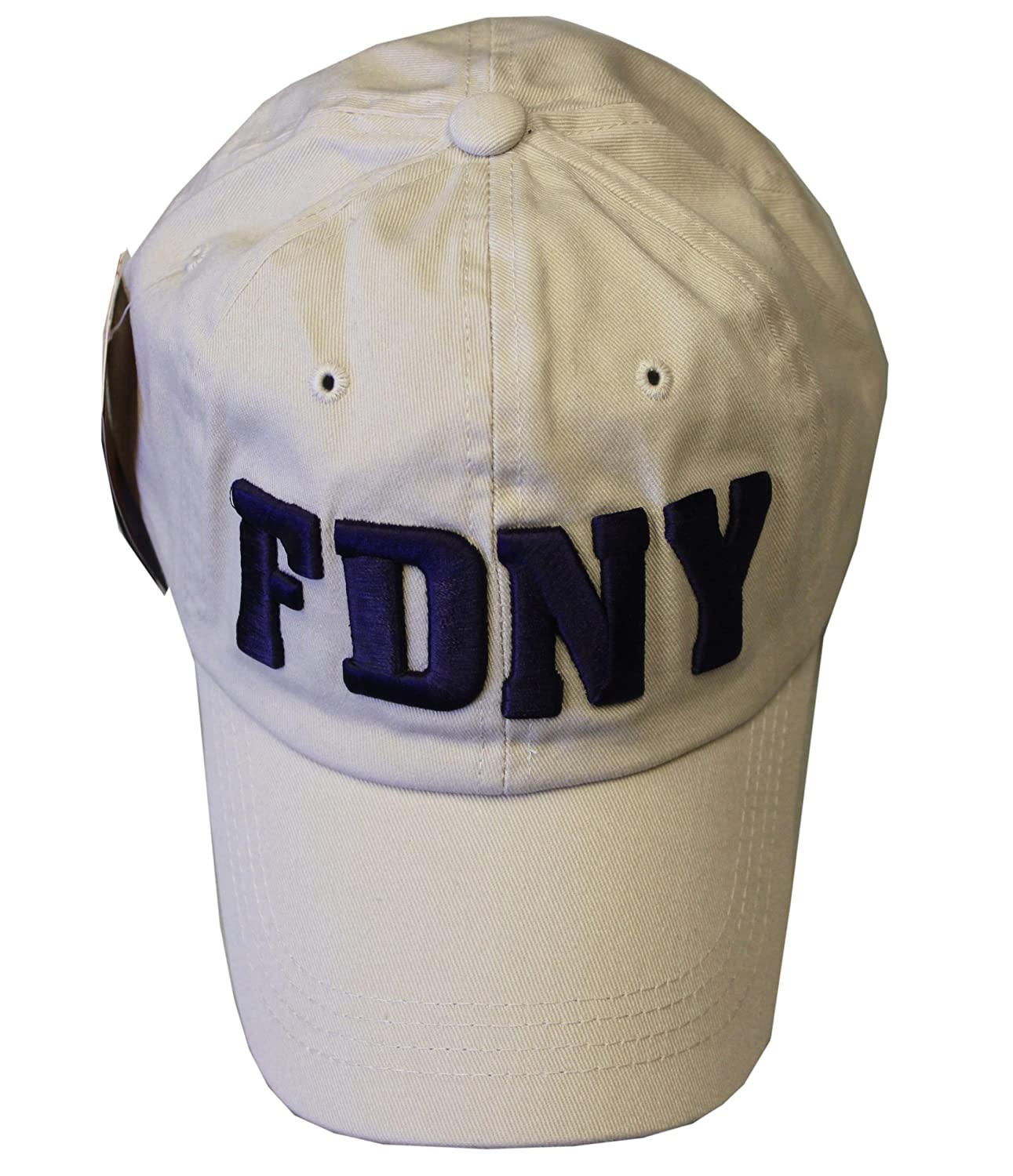 Amazon.com  FDNY Baseball Hat Fire Department Of New York City Khaki   Navy  One Size  Clothing d42c1f6cc99