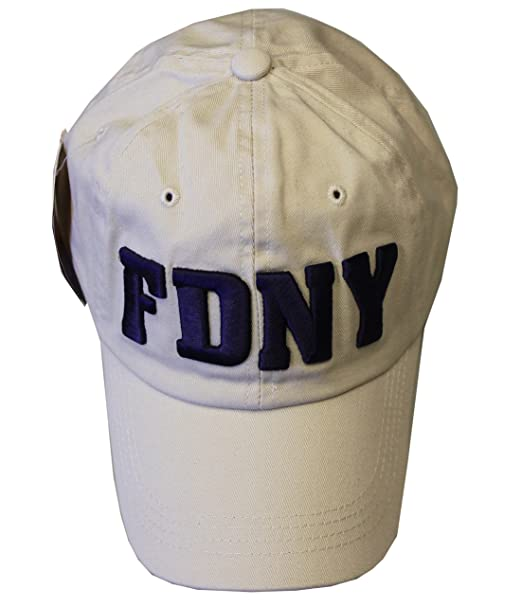 4921ad4c8 FDNY Baseball Hat Fire Department Of New York City Khaki & Navy One Size