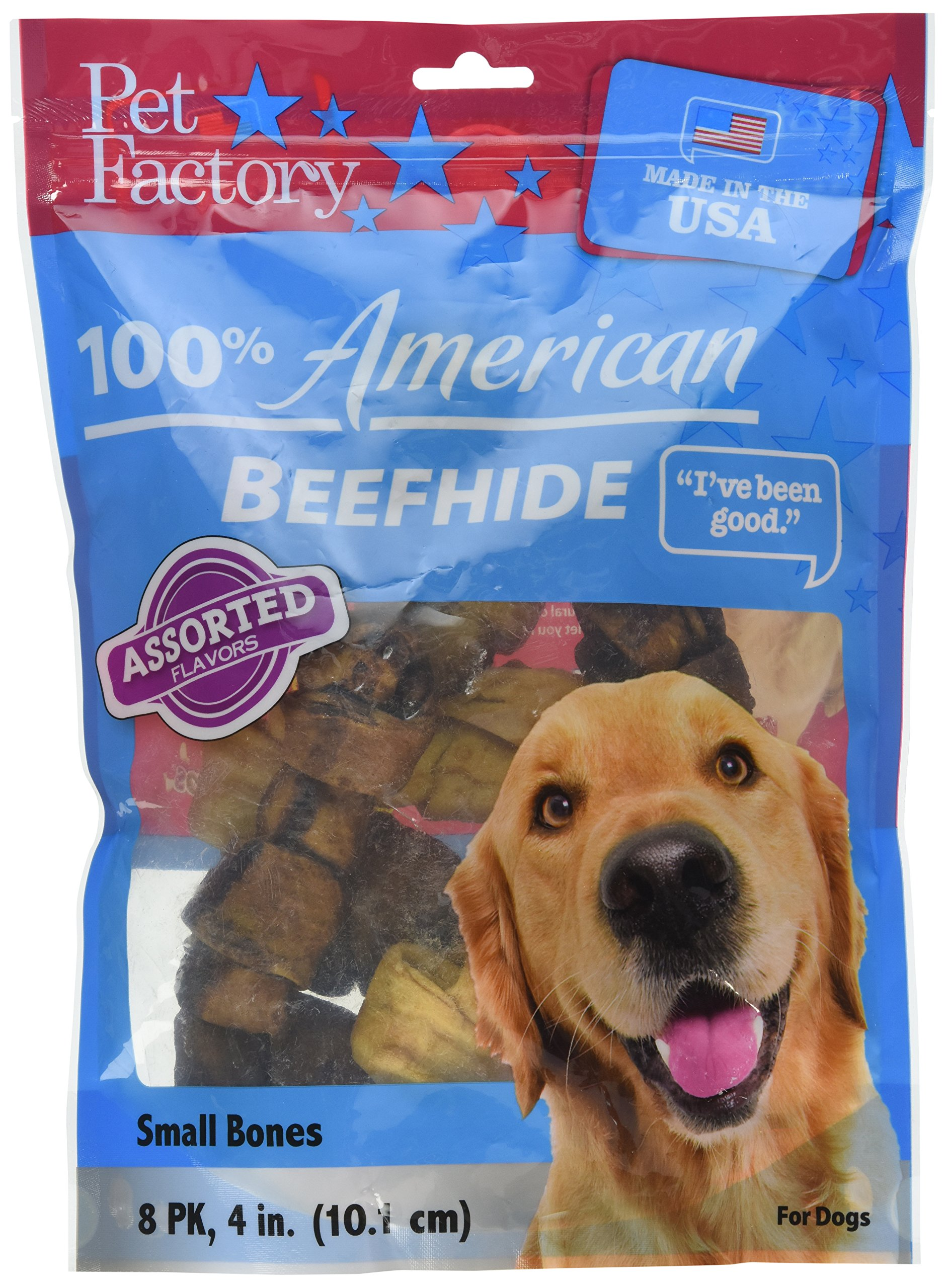 Pet Factory Bone Treat (8-Pack), Assorted Treat, 4 inch