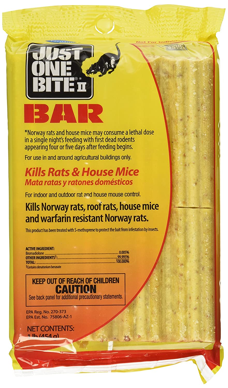 amazon com just one bite ii bars mice and rat killer 8lbs 8 16