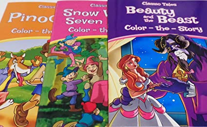 CLASSIC TALES COLOR THE STORY SNOW WHITE /& THE SEVEN DWARFS NEW