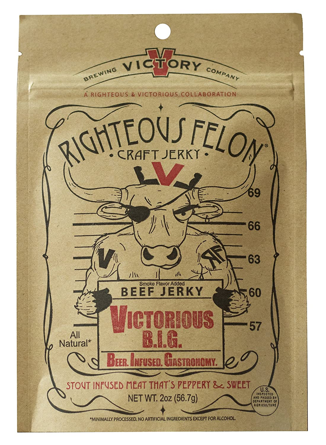 Righteous Felon Victorious BIG Beef Jerky