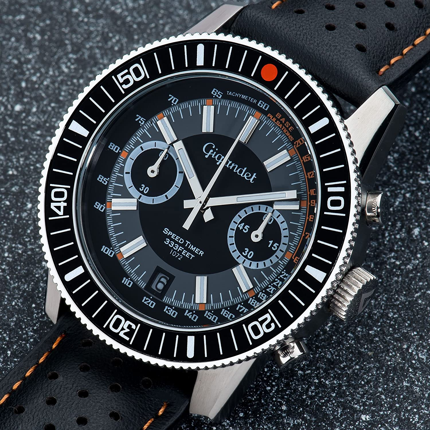 watch tachymeter gb black silicone watches mens mikkel