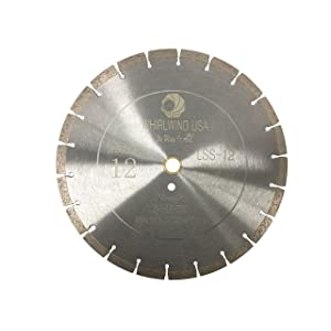 Whirlwind USA LSS 12-Inch Dry or Wet Cutting General Purpose Power Saw Segmented Diamond Blades for Concrete Stone Brick Masonry