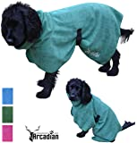 Microfibre Dog Robe by Arcadian in Blue and Pink. These Luxurious Robes make the Perfect Gift for your Beloved Pet. Made of Premium Quality Microfiber, These Robes are Lightweight, Quick Drying and Super Absorbent. Arcadian Robes are Easy to Use, Comfortable and come with Adjustable Straps.Small, Medium, Large, XL and XXL. Fantastic When Used with an Arcadian Microfibre Dog Towel. 100% Satisfaction Guarantee! (Medium, Green)