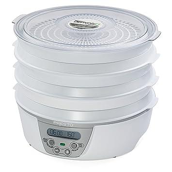 Presto 06301 secador de fruta - Deshidratador de fruta (377.9 x 381 x 190 mm) Color blanco: Amazon.es: Hogar