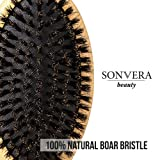 Boar Bristle Hair Brush by Sonvera, Boar