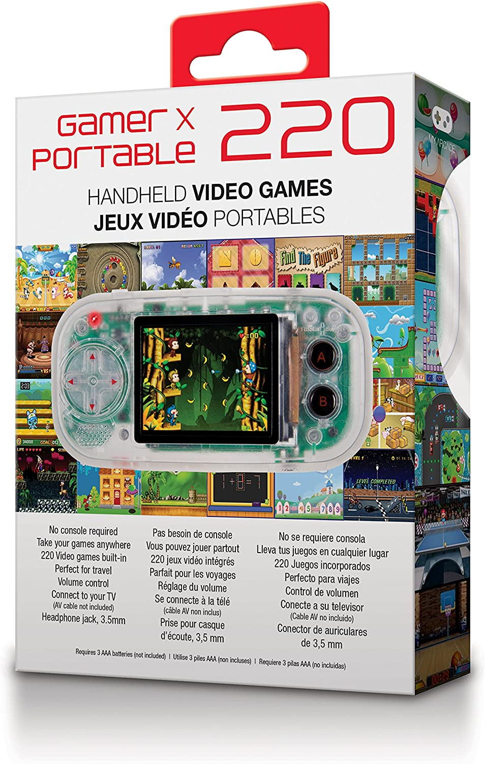 Amazon.com: My Arcade - Gamer X Portable Gaming System with 220 Built-in 16 bit Hi-res Retro Games plus Headphone Jack: electronic games: Video Games
