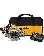 "DEWALT DCS570P1 7-1/4"" (184mm) 20V Cordless Circular Saw with Brake Kit"