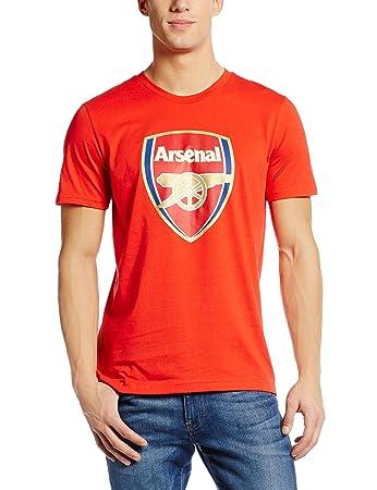 1bc4f3458 Puma Men s AFC Arsenal London 17 18 Fan Crest Tee  Amazon.co.uk ...