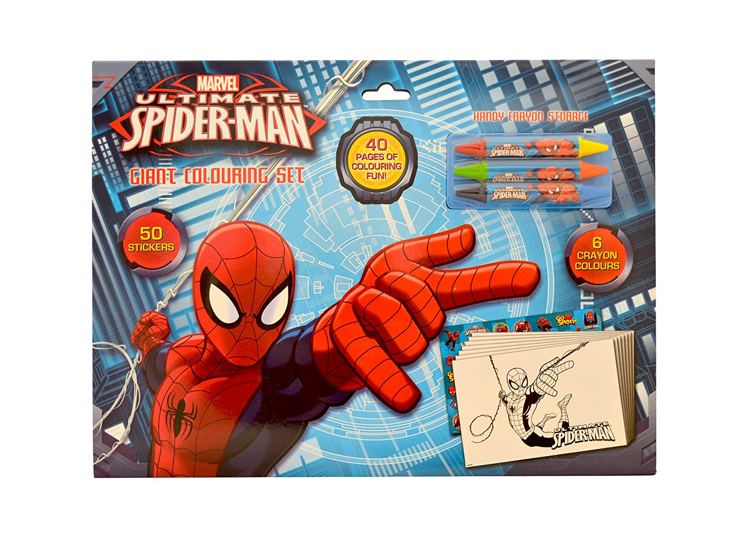 The Amazing Spider-Man Giant Colouring Set: Amazon.co.uk: Toys & Games