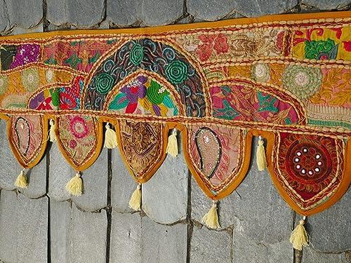 Indian Toran, door hanging, window valance, hippie wall decor, boho curtain for bohemian home decor
