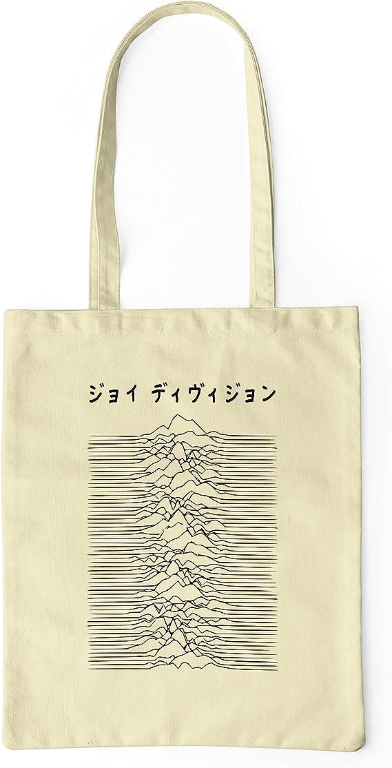 LaMAGLIERIA Bolsa de tela Joy Division Japan Black Logo - tote bag shopping bag 100% algodón, Natural: Amazon.es: Hogar