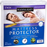 "Waterproof Twin Mattress Protector from Hanna Kay® – A Hypoallergenic, Sweat-Free Solution that fits ALLTwin Mattresses– Keeps You Safe, Dry and Cool –10-Year ""Good-Night's Rest"" Warranty"