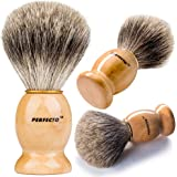 Perfecto 100% Original Pure Badger Shaving Brush. Engineered for the Best Shave of Your Life.For all methods,Safety Razor,Double Edge Razor,Staight Razor or Shaving Razor, Its Best Badger Brush.