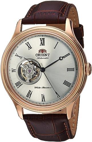 Orient Reloj para Hombre Analógico Automático con Brazalete de Cuero AG00001S: Amazon.es: Relojes