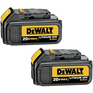 DEWALT 20V MAX Battery, Premium 3.0Ah Double Pack (DCB200-2)