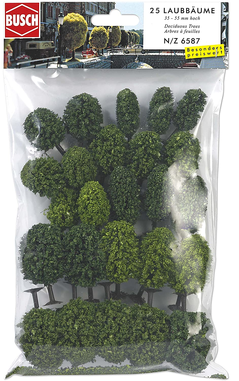 Amazon.com: N Scale Decid Trees 35-55mm 25/: Toys & Games