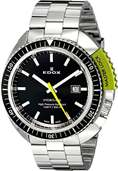 Reloj EDOX 53200 3NVM NIN - Reloj para Hombres, Correa de Acero Inoxidable