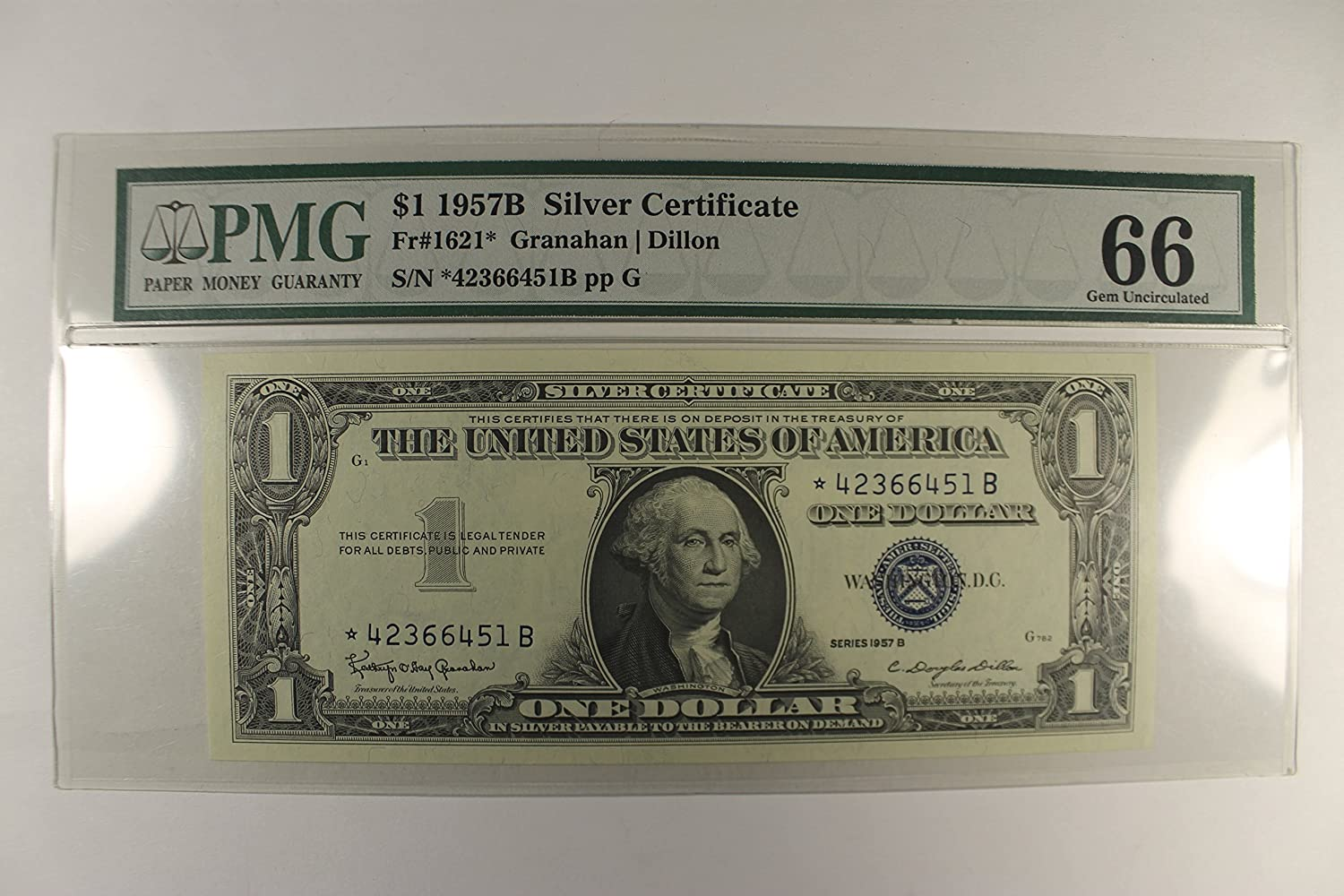 1957 Various Mint Marks Silver Certificate 1 Pmg Gu66 At Amazons