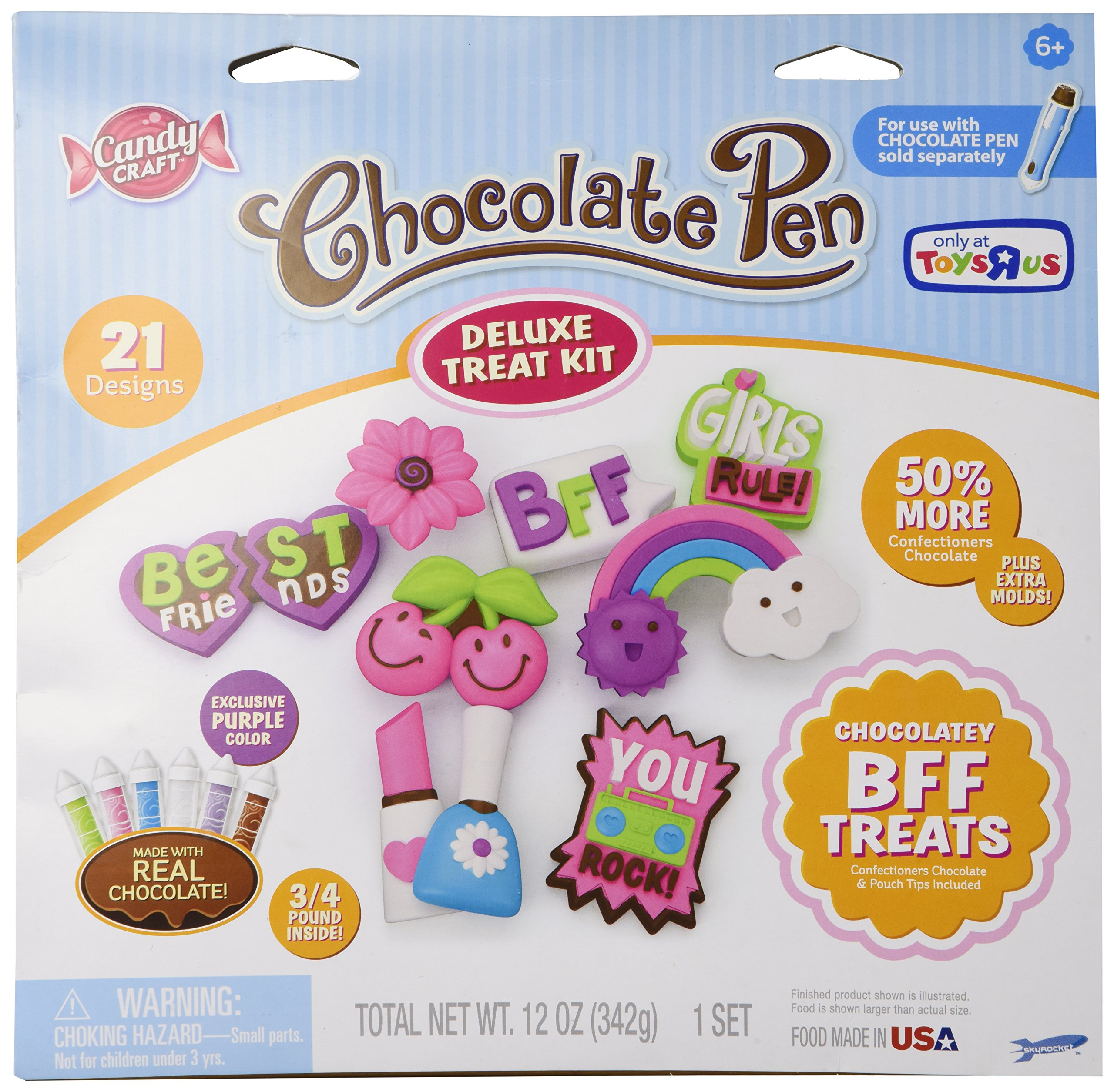 Candy Craft Chocolate Pen Deluxe Treat Kit 21 Designs Chocolatey BFF Treats Exclusive Purple Color