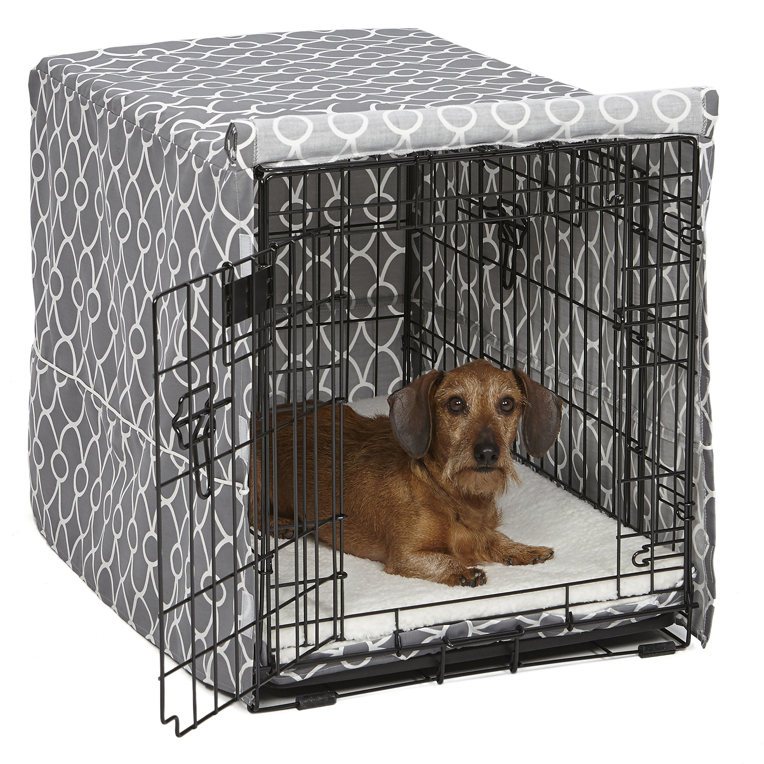 Midwest Homes for Pets Dog Crate Cover, Gray Geometric Pattern, 30-Inch by MidWest Homes for Pets