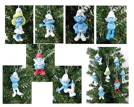SMURFS Christmas Ornaments Featuring 7 Smurfs Ornaments with Papa Smurf,  Smurfette, Brainy Smurf and - SMURFS Christmas Ornaments Featuring 7 Smurfs Ornaments With Papa