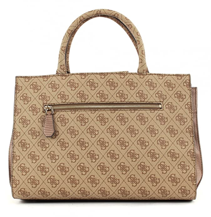 732f221c05 GUESS Cynthia Large Satchel Brown: Amazon.fr: Chaussures et Sacs