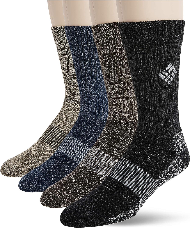 COLUMBIA 4-Pack,6-12 Moisture Control Crew Sock $6.50