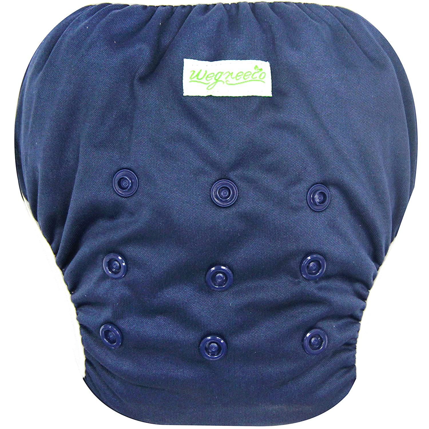 Wegreeco Baby & Toddler Snap One Size Adjustable Reusable Baby Swim Diaper (Navy,Small,3 Pack)