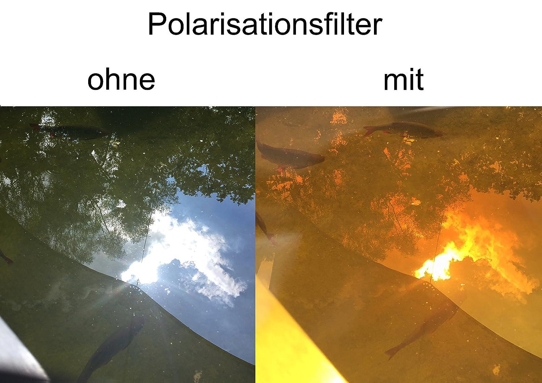 UV A//B POLARISATIONSBRILLE Polbrille aus leichtem Kunststoff Anglerbrille mit UV400 Schutz bruchsichere Kunststoffgl/äser | entspiegelt Wasserfl/ächen FISH-SPOTTER HARDCASE