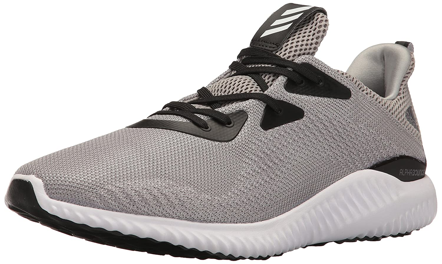 Medium gris Heather blanc noir 43 1 3 EU Adidas Alphabounce Toile Chaussure de Course