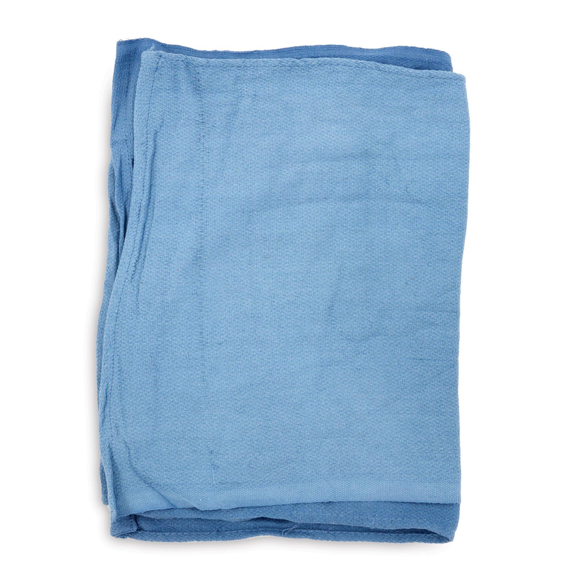 Huck Towels, 16''x25'', Light Blue, 10lb PK